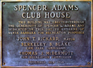 1Club house plaque