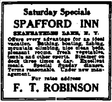Spafford Inn 1911