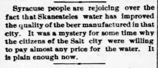 Beer 1895 Cortland Democrat
