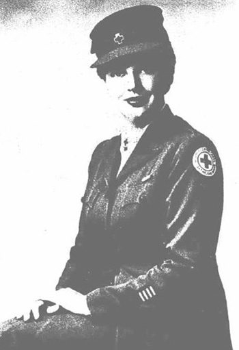 Adeline in Red Cross Uniform
