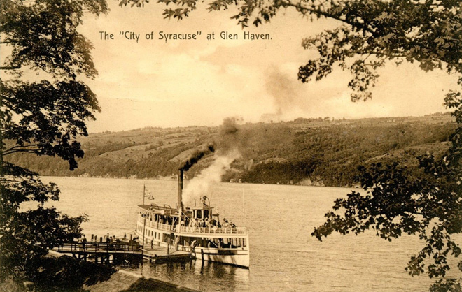 Glen Haven Steamer at Dock