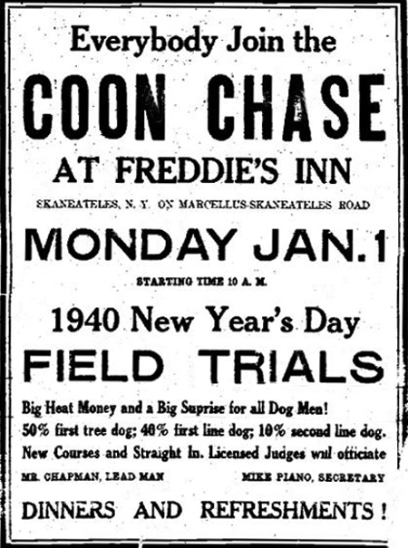 Coon Chase Ad