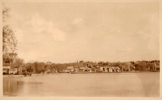 Skaneateles from the Lake RPPC
