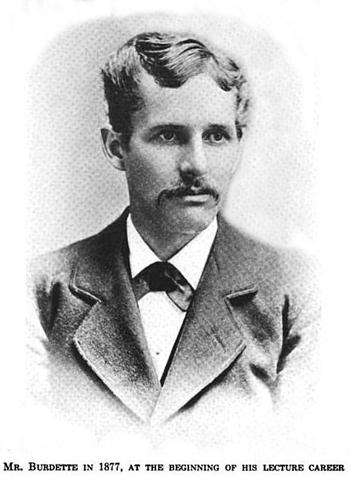 Burdette in 1877
