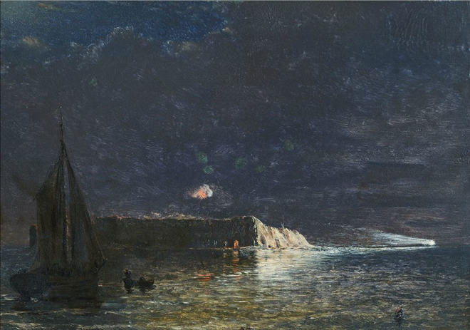 Night-Bombardment-December-10-1864-Fort-Sumter