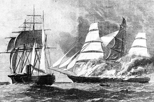 CSS Florida sinking Jacob Bell