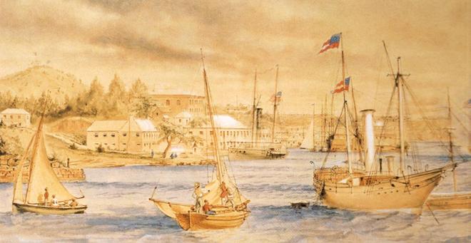 St. George's Harbour circa 1864