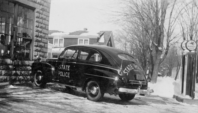 1942 Ford Police Car at B & T Garage