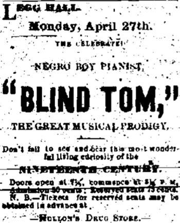 Blind Tom Ad