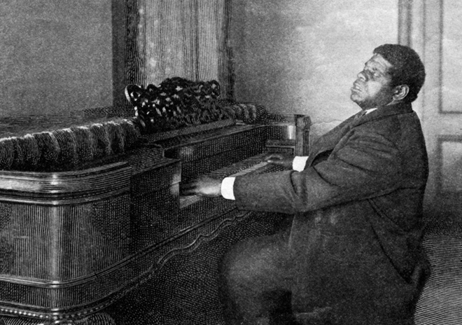 Blind Tom Playing