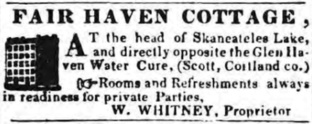 Fair Haven Cottage Ad